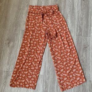 American Eagle Soft Flowy Culotte Pants RustOrange